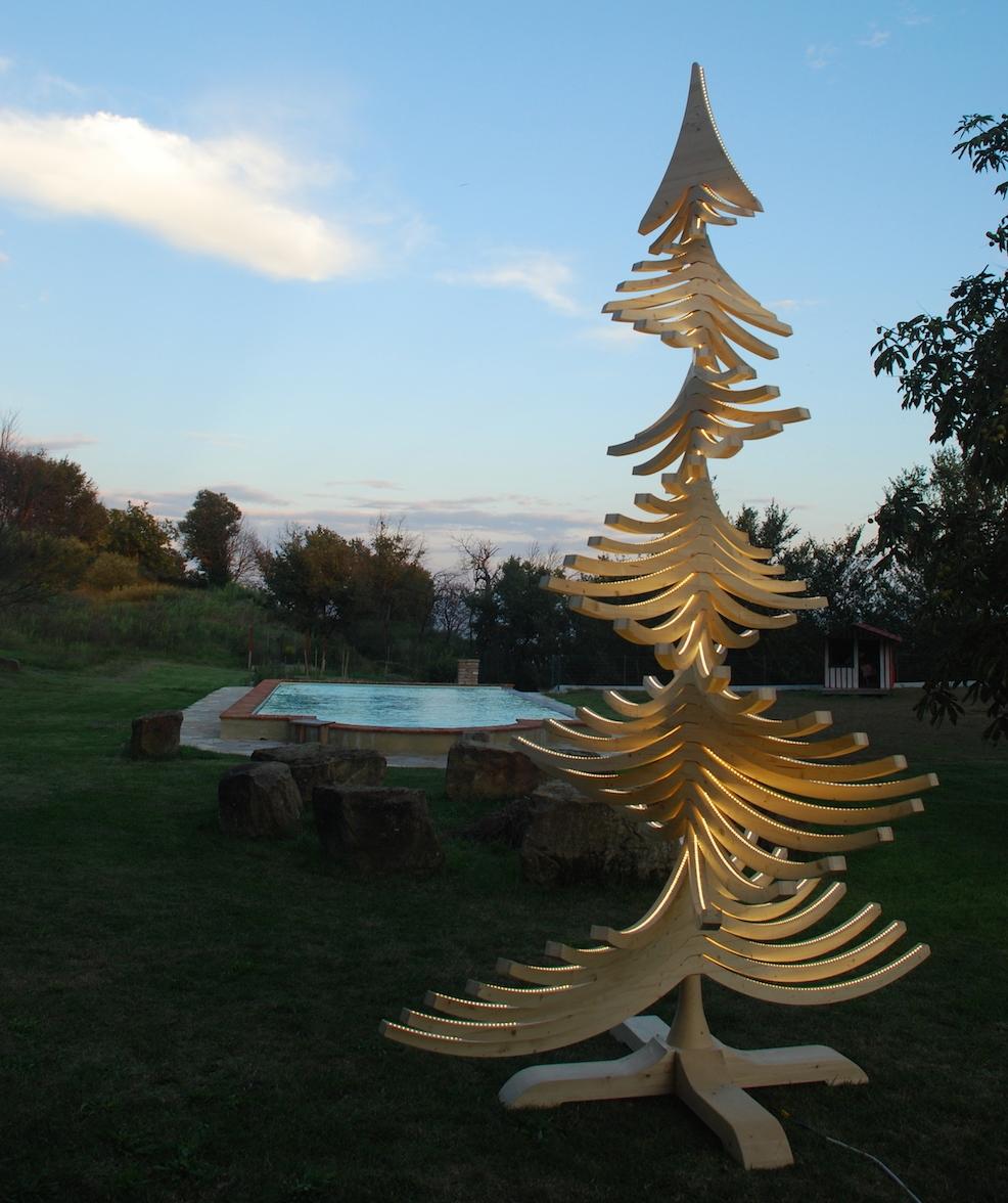 albero artigianale in legno ALBERT giardino
